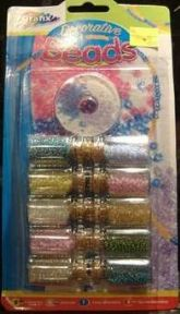 Decorative Beads Kit In Glass Bottles - Sale Price